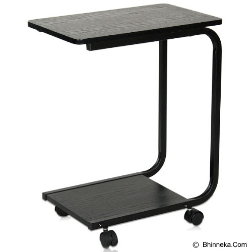 FUNIKA Side Table with Metal Legs [22032 BK/BK] - Black - Meja Lipat Serbaguna